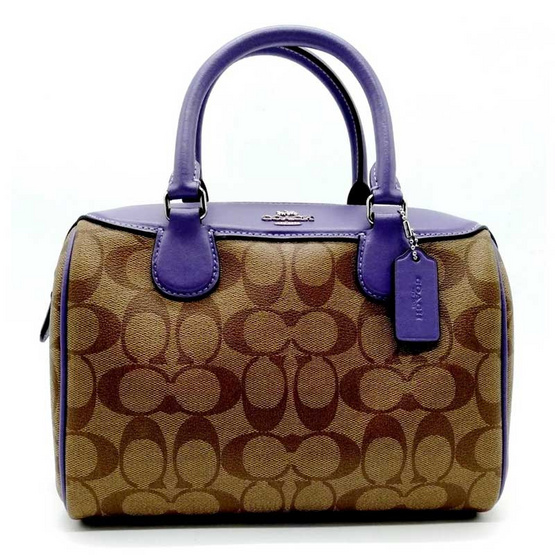COACH F32203 MINI BENNETT SATCHEL IN SIGNATURE CANVAS (SVOIK) [MCF32203SVOIK]