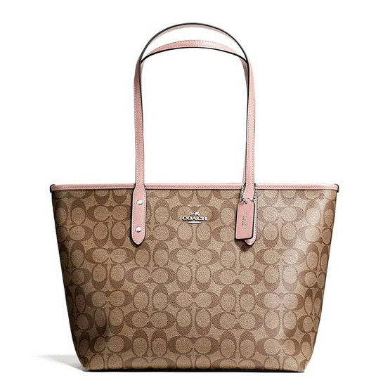 COACH F58292 CITY ZIP TOTE IN SIGNATURE (SVAVK) [MCF58292SVAVK]