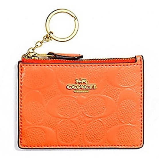 COACH F39152 MINI SKINNY ID CASE IN SIGNATURE COATED CANVAS (IMBCD) [MCF39152IMBCD]