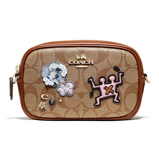 COACH F55644 KEITH HARING CONVERTIBLE BELT BAG IN SIGNATURE CANVAS WITH PATCHES(IME7V) [MCF55644IME7V]