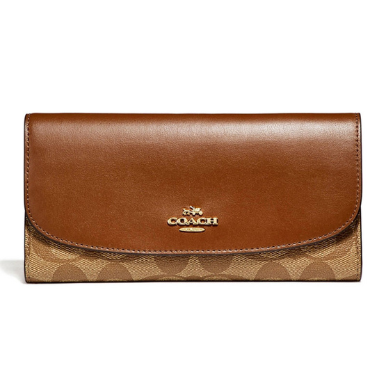 COACH F57319 CHECKBOOK WALLET IN SIGNATURE (IME74) [MCF57319IME74]