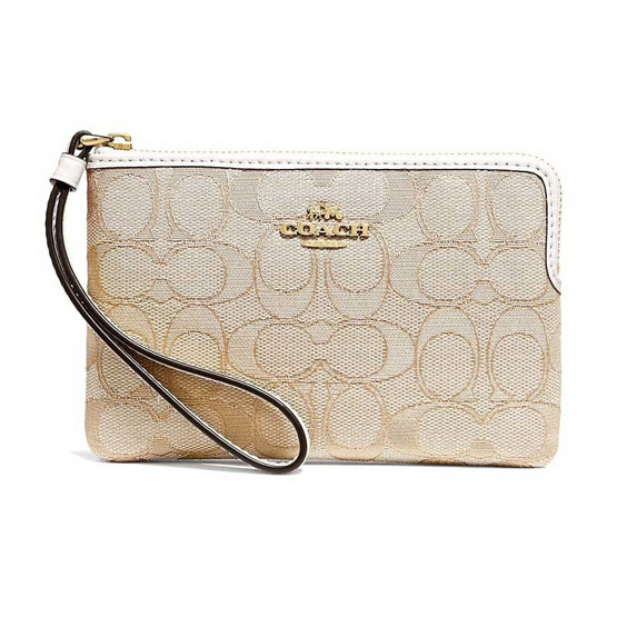 COACH F58033 CORNER ZIP WRISTLET IN OUTLINE SIGNATURE (IMDQC) [MCF58033IMDQC]