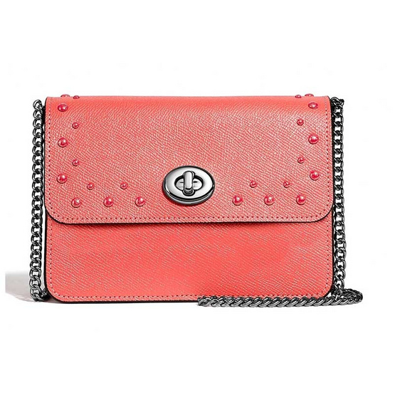 COACH F44964 BOWERY CROSSBODY WITH STUDS (SVCO) [MCF44964SVCO]