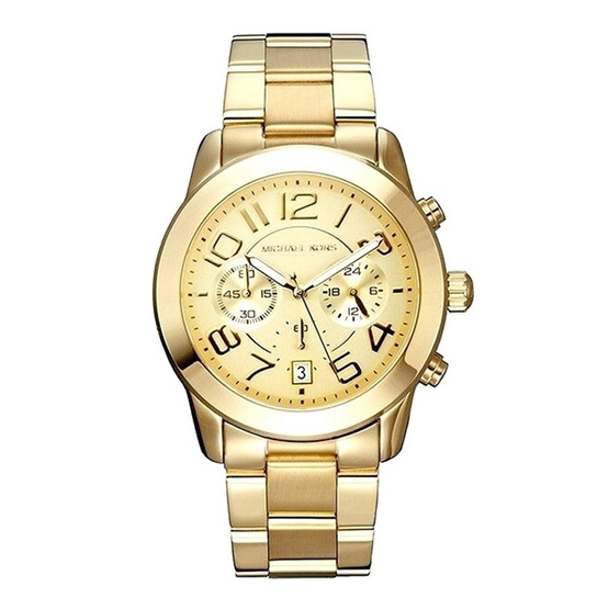 Michael MK5726 Mercer Chronograph Champagne Dial Ladies Watch [MCMK5726]