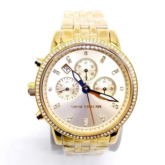 Michael MK6342 Gold Tone Dial Chronograph Ladies Watch [MCMK6342]
