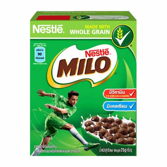 Milo เนสท์เล่ ไมโล ซีเรียลอาหารเช้า 25 กรัม (แพ็ก 12 กล่อง)