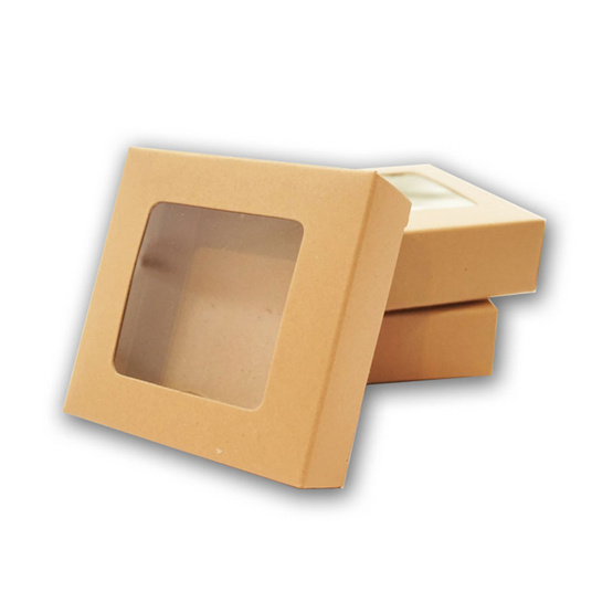 ตราสนคู่ กล่องแฮนเมดแบนจัตุรัส บราวนี่ จิ๋ว เจาะ สีวอลนัทบราวน์ (10 ชิ้น x 5 แพ็ค)