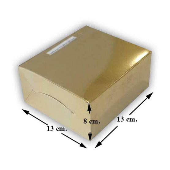 ตราสนคู่ กล่องสแน็คบ๊อก เล็ก ไม่เจาะ สีบรอนซ์ทอง (10 ชิ้น x 10 แพ็ค)