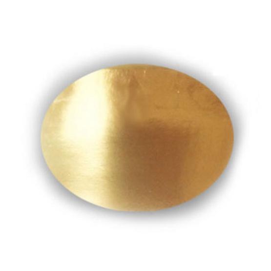 ตราสนคู่ ฐานรองเค้ก 1 ปอนด์ สีบรอนซ์ทอง ทรงกลม (10ชิ้นx10 แพ็ค)