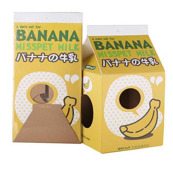 sukina petto อุปกรณ์ที่ลับเล็บแมว - กล่องนมรสกล้วย (SY-570)