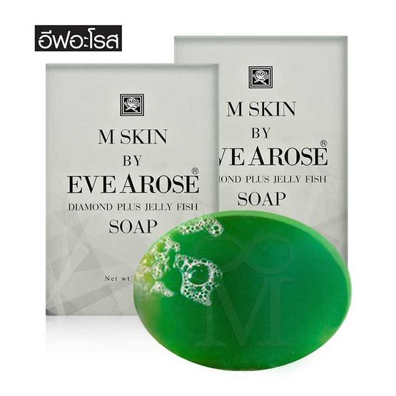 Evearose M Skin สบู่ล้างหน้าเพชรแมงกะพรุน 110 กรัม (แพ็ค2)