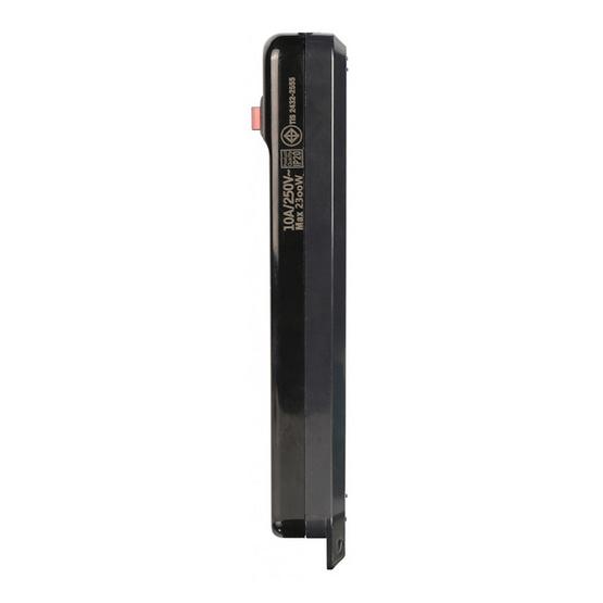 Toshino รางปลั๊กไฟ 4 ช่อง สาย VCT 3 x 0.75 ยาว 3 เมตร สีดำ N1-375-3M (BK)
