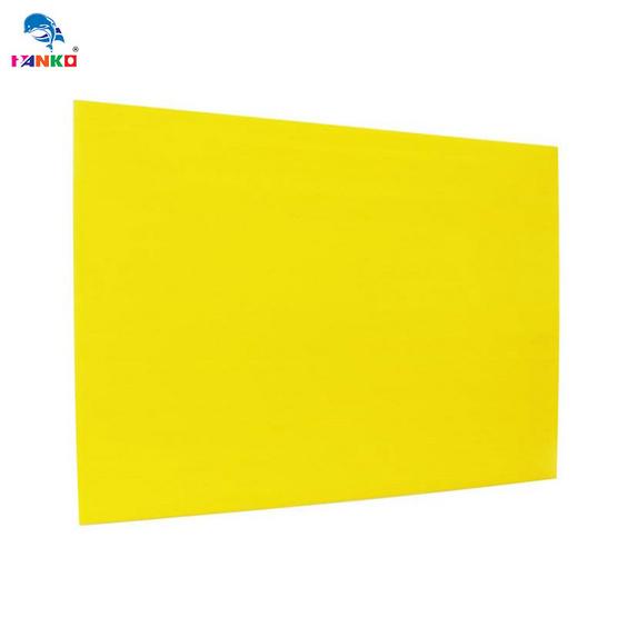 PANKO แผ่นฟิวเจอร์บอร์ด65x122ซม.หนา3มม. สีเหลือง