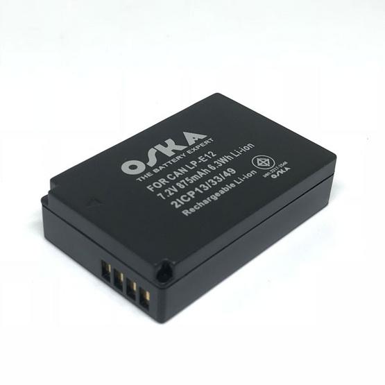Oska แบตเตอรี่กล้อง Canon รุ่น LP-E12