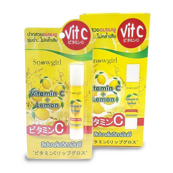 Snowgirl Vitamin C & Lemon Lip Blam ลิปบาล์ม VitC (1 กล่องบรรจุ 3 ชิ้น)