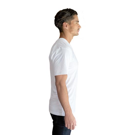 Double Goose ตราห่านคู่ เสื้อคอกลม สีขาว รุ่น Classic