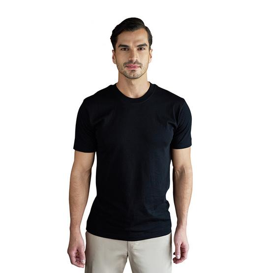 Double Goose ตราห่านคู่ เสื้อคอกลม สีดำ รุ่น Classic