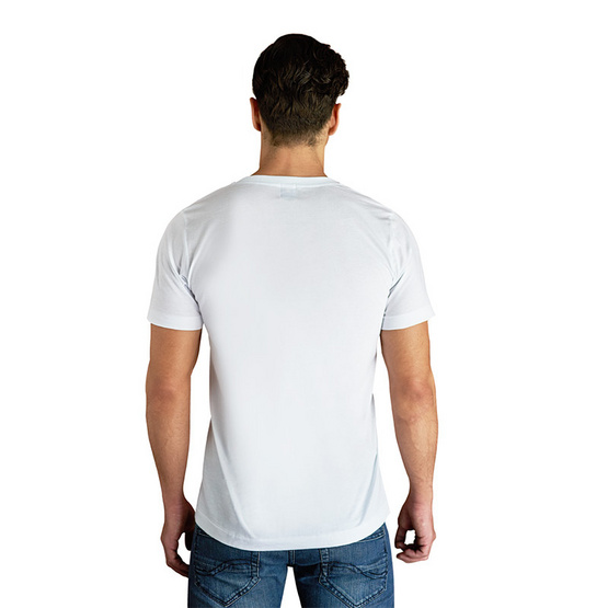 Double Goose ตราห่านคู่ เสื้อคอวี สีขาว รุ่น Classic