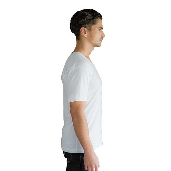 Double Goose ตราห่านคู่ เสื้อคอกว้าง สีขาว รุ่น Classic