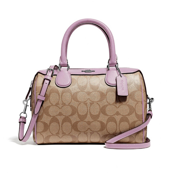 COACH F32203 MINI BENNETT SATCHEL IN SIGNATURE CANVAS (SVOSB) [MCF32203SVOSB]