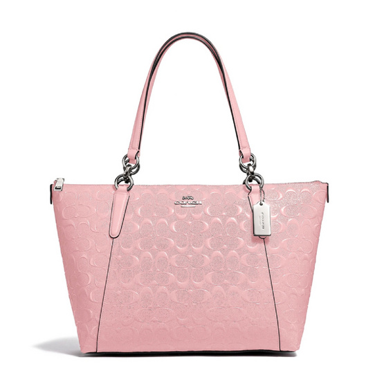 COACH F38090 AVA TOTE IN SIGNATURE LEATHER (SVET) [MCF38090SVET]