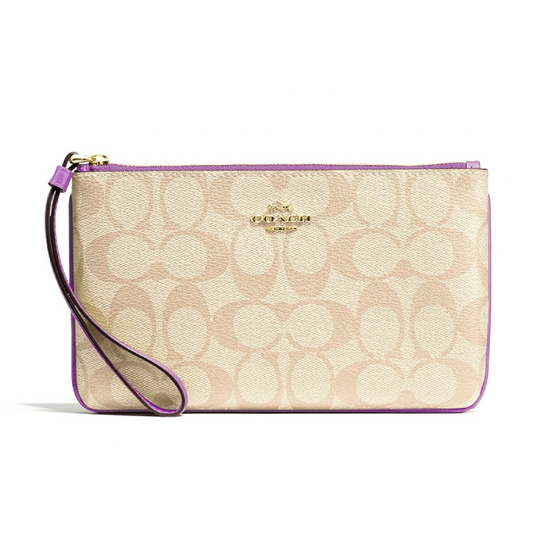 COACH F58695 LARGE WRISTLET IN SIGNATURE CANVAS (IMOG8) [MCF58695IMOG8]