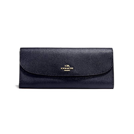 COACH F59949 SOFT WALLET IN CROSSGRAIN LEATHER (IMMID) [MCF59949IMMID]