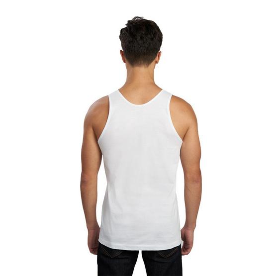 Double Goose ตราห่านคู่ เสื้อกล้าม ไร้ตะเข็บข้าง Relax Fit สีขาว รุ่น Modern