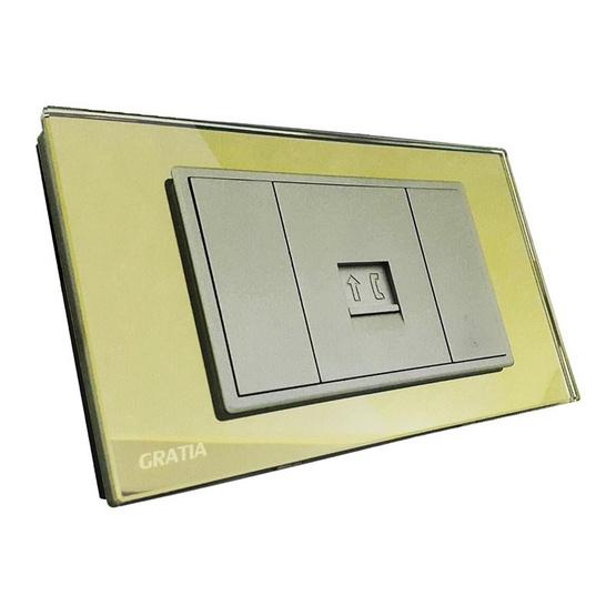 GRATIA GSTE01G2x4 ทอง เต้ารับสายโทรศัพท์