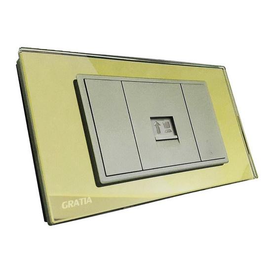 GRATIA GSIN01G2x4 ทอง เต้ารับสายแลนCAT6