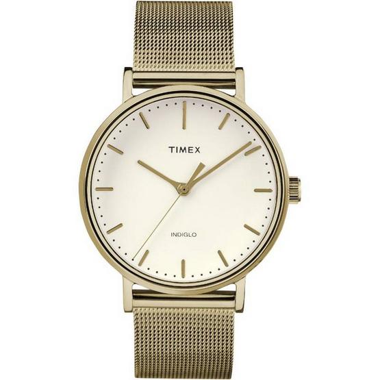 Timex TM-TW2R26500 นาฬิกาข้อมือผู้หญิงและผู้ชาย สายสแตนเลส สีทอง