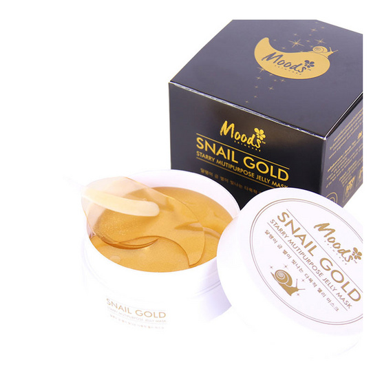 MOODS SNAIL GOLD STARRY MULTIPURPOSE JELLY MASK 60 pcs แผ่นเจลสารสกัดจากเมือกหอยทากและทองคำ