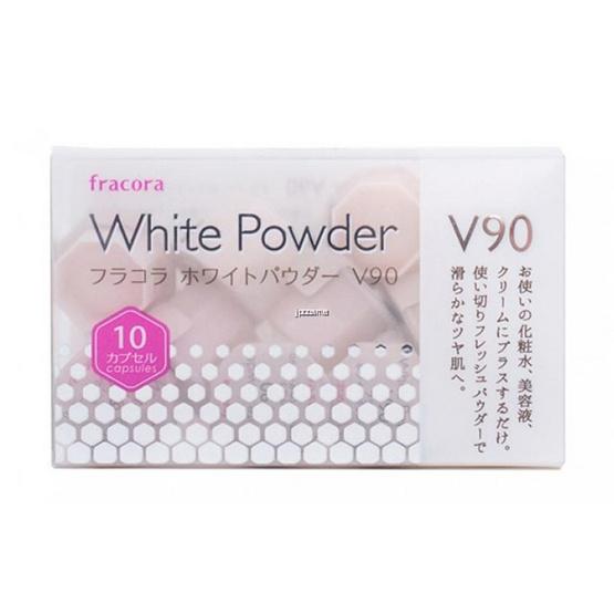 Fracora ผงวิตามินซีบริสุทธิ์ Placenta White Powder V90 (แพ็ค 10 ชิ้น)