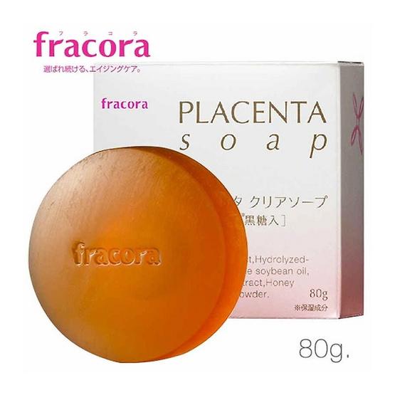 Fracora สบู่ล้างหน้าพลาเซนตา 80 กรัม