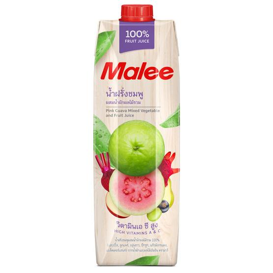 มาลี น้ำฝรั่งชมพูผสมน้ำผักผลไม้รวม 100% 1000มล. ยกลัง12กล่อง