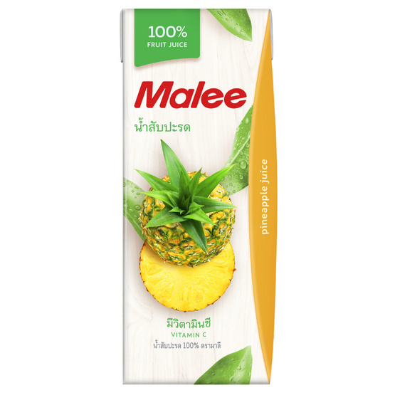 มาลี น้ำสับปะรด 100% 200มล. ยกลัง24กล่อง