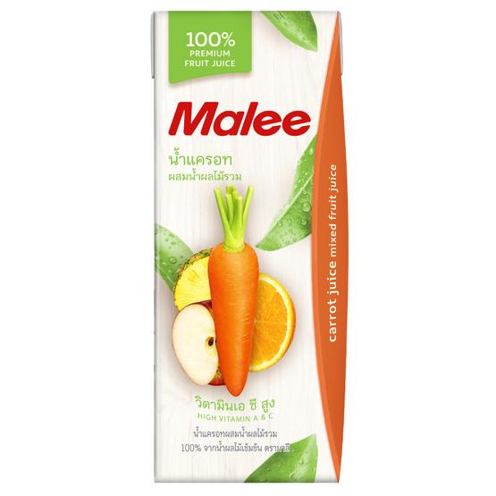 มาลี น้ำแครอทผสมน้ำผลไม้รวม 100% 200มล. ยกลัง24กล่อง