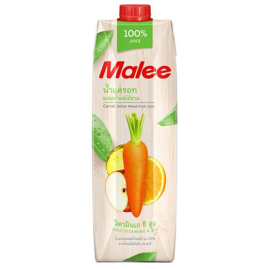 มาลี น้ำแครอทผสมน้ำผลไม้รวม 100% 1000 มล. ยกลัง12กล่อง