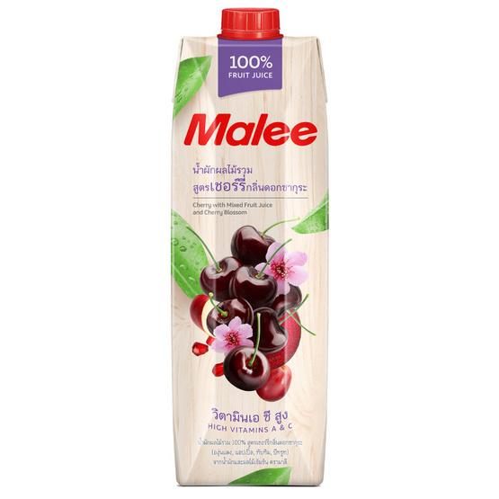 มาลี น้ำผักผลไม้รวม100% สูตรเชอร์รี่ กลิ่นดอกซากุระ 1000มล. ยกลัง12กล่อง