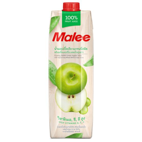 มาลี น้ำแอปเปิ้ลเขียวผสมน้ำองุ่นขาว 100% 1000มล. ยกลัง12กล่อง