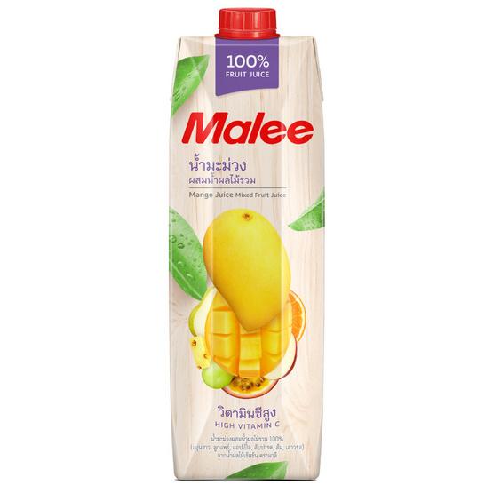 มาลี น้ำมะม่วงผสมน้ำผลไม้รวม 100% 1000 มล. ยกลัง12กล่อง