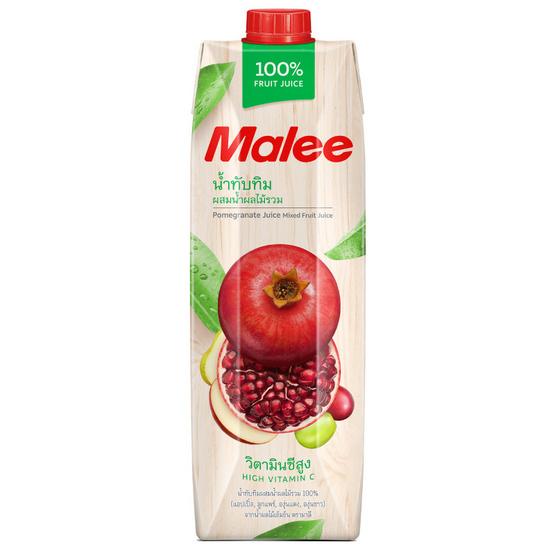 มาลี น้ำทับทิมผสมน้ำผลไม้รวม 100% 1000มล. ยกลัง12กล่อง