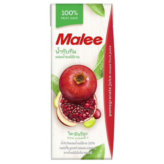 มาลี น้ำทับทิมผสมน้ำผลไม้รวม 100% 200มล. ยกลัง24กล่อง
