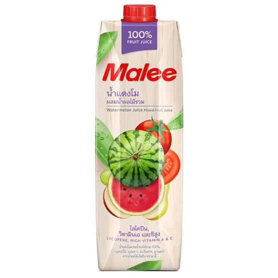 มาลี น้ำแตงโมผสมน้ำผลไม้รวม 100% 1000 มล. ยกลัง12กล่อง