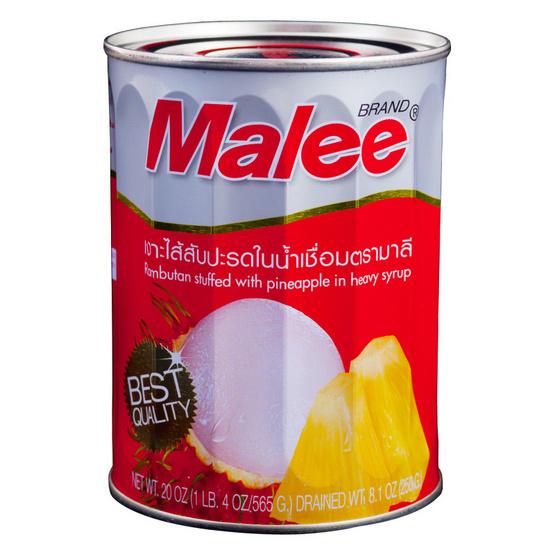 มาลี เงาะสอดไส้สับปะรดกระป๋อง565กรัม 2กระป๋อง