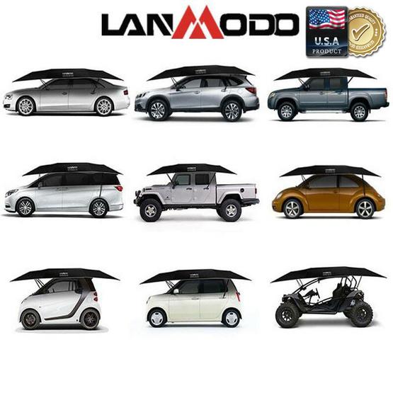 ร่มสำหรับรถยนต์ LANMODO รุ่น กึ่งอัตโนมัติ ขนาด 3.5 x 2.1 เมตร