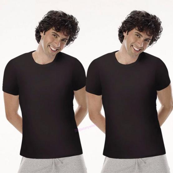 Sanremo เสื้อคอกลม Modern Classic สีดำ รุ่น NIS-SCT1 Pack 2 ตัว