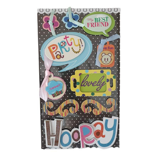 Sugar Daisy D.I.Y. Mini Scrap Album Kit Have Fun คละลาย(แพ็ค3ชุด)