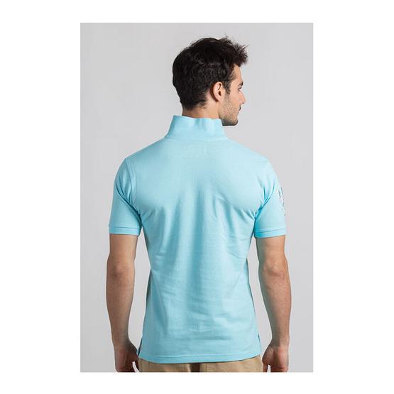 CLEAR เสื้อโปโล สีฟ้าอ่อน รุ่น ปักแขน