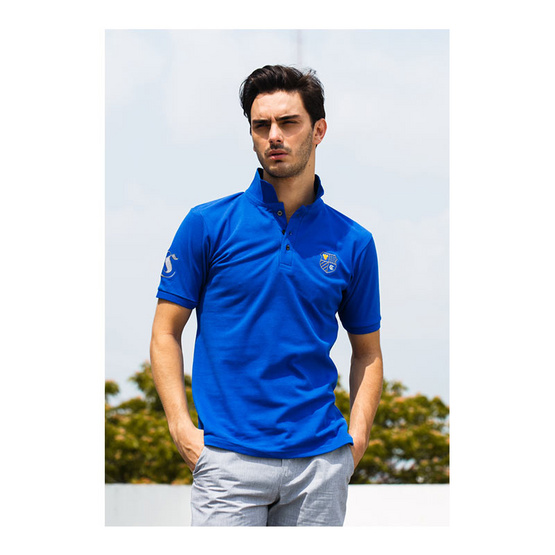 CLEAR เสื้อโปโล สีน้ำเงิน รุ่น ปักหลัง
